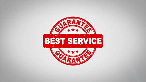 Best Service Signed Stamping Text Wooden Stamp Animation Animation