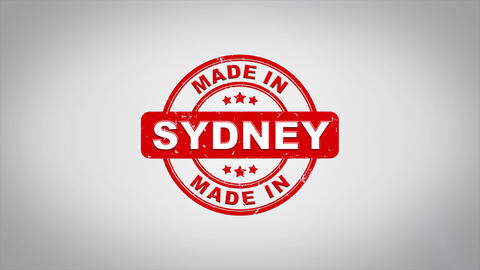 Made In SYDNEY Signed Stamping Text Wooden Stamp Animation Animation