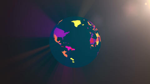 $World peace in 4K, concept of world, map animation Footage