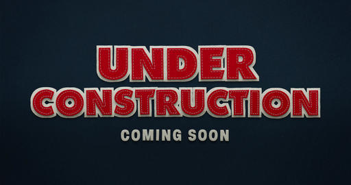 Under construction. Coming soon. Stop motion animation with textile look Animation