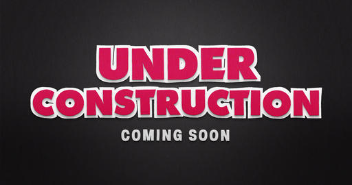 Under construction. Coming soon. Stop motion animation with paper look Animation