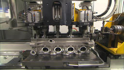 modern production of cars, assembly line of cars. engine production Footage