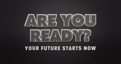 Are you ready. Your future starts now. Stop motion animation with textile look Animation