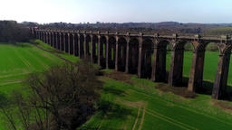 Express train on Ouse Valley Viaduct Footage