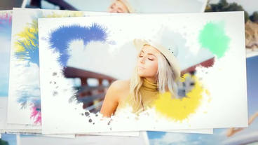 Ink Photo Slideshow After Effects Template