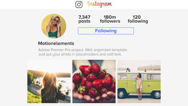 Instagram Slideshow Premiere Pro Template