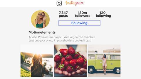 Instagram Slideshow Premiere Pro Template