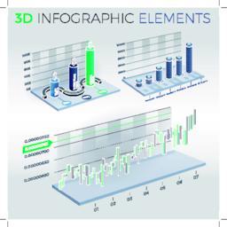 3D Infographic Elements ベクター