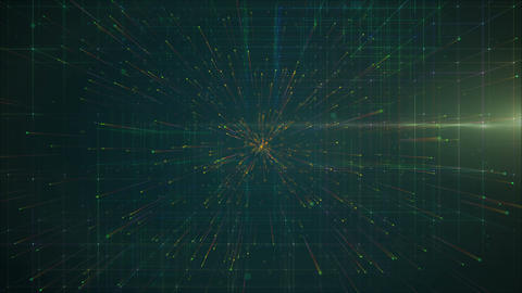 Abstract background with grid in green color Animation