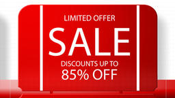 Sales promotional animation video with the inscription 85 percent's discount Animation