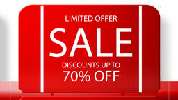 Sales promotional animation video with the inscription 70 percent's discount Animation