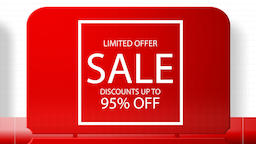 Sales promotional animation video with the inscription 95 percent's discount Animation