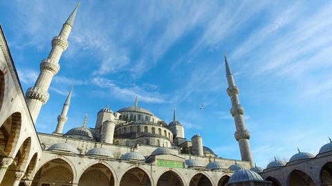 Istanbul. Sultan Ahmet Mosque, also known as Blue Mosque Footage
