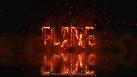 Fire Metal Logo After Effects Template