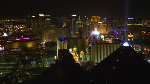 Las Vegas strip at night ビデオ