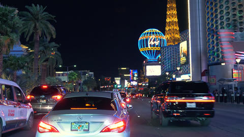 Las Vegas strip driving shot at night Footage