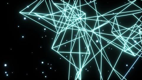 Wireframe beat_cyan 3 Animation