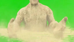 Green Screen Sand giant Footage