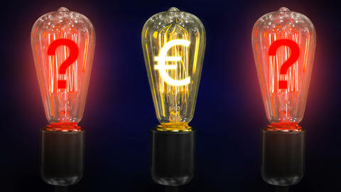 The concept of the fall of the euro exchange rate. Money making idea Live Action