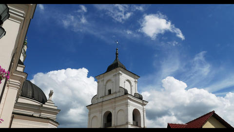 beautiful church cloudy timelapse Footage