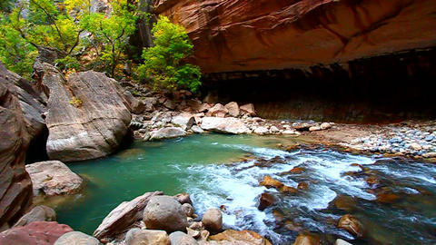Zion Canyon Narrows Utah Footage