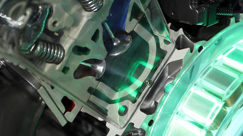 Car valves and pistons work detail Footage