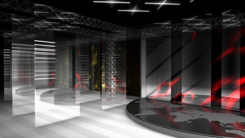 Virtual broadcasting set, internet, streaming Animation