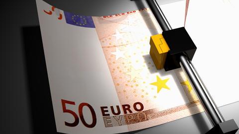 Concept animation, euro money printer Animation