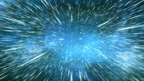 Space light speed travel effect, star light effects Stock Video Footage