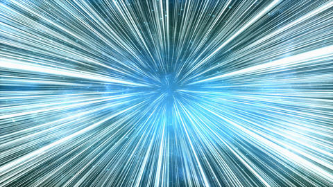 Space light speed travel effect, star light effects Animation
