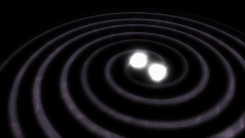 Artist visualise Gravitational wave Animation