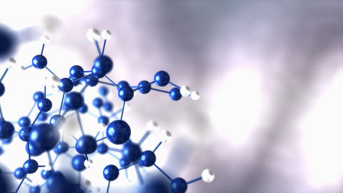 Abstract molecular background Animation