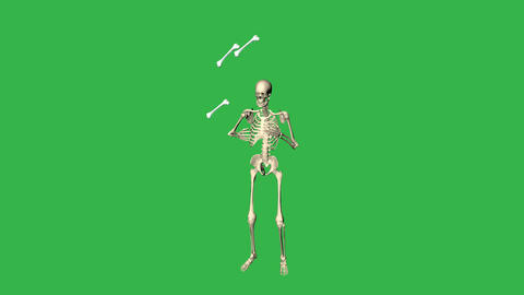 Skeleton Juggling Bones CG動画素材