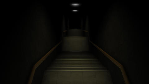 Computer generated, dark stairways CG動画