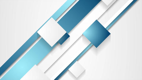 Blue abstract stripes and squares video animation Animation