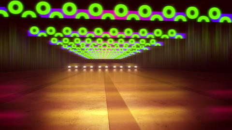 Abstract Multicolored Lines of a Tunnel 애니메이션
