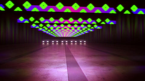 Marvelous Multicolored Lines and Squares in Tunnel Animation