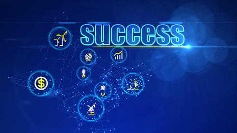 Investment Backdrop with Icons of Success Animation