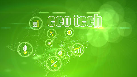 Investment Backdrop with Eco Tech Ideas Animation