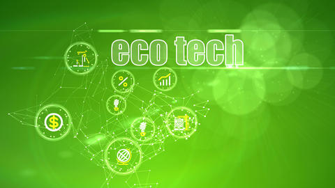 Investment Backdrop with Eco Tech Ideas Stock Video Footage