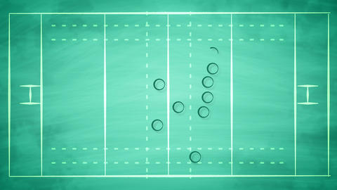 American football field scheme for players Animation