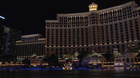 Fountains show in Las Vegas. Bellagio Hotel Footage
