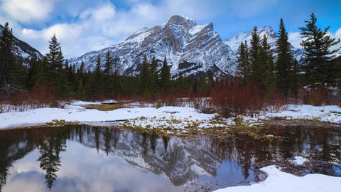 Time-lapse of Mount Kidd in Kananaskis, Alberta Footage