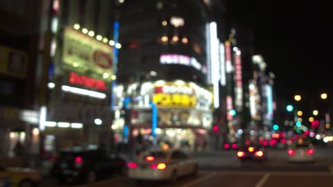 On-board - View of Tokyo Shinjuku Kabuki-cho downtown on the weekend at night ライブ動画