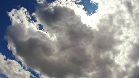 Sky clouds,sky with clouds and sun Cloud mood with sun 4K HD Video Footage