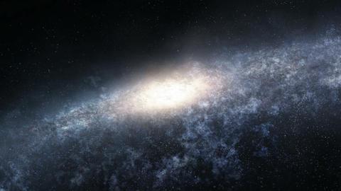 Flight across the galaxy GIF