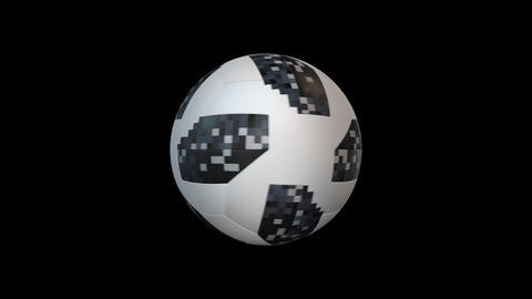 Soccer ball with alpha, looped CG動画素材