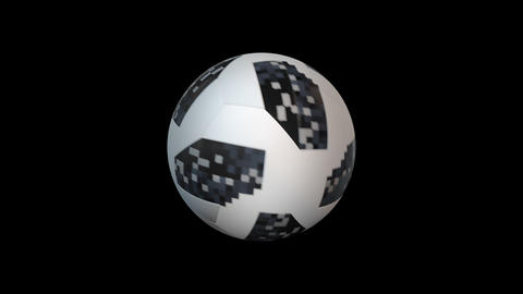 3d render soccer ball element with alpha, looped Animation