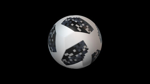 3d render soccer ball element with alpha, looped Stock Video Footage