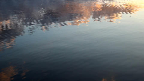 Cloud Reflections on Lake Surface Footage